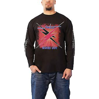Raven T Shirt Wiped Out Album Band Logo new Official Mens Black Long Sleeve