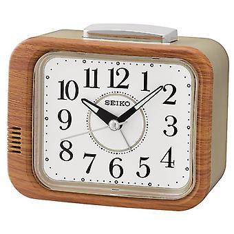 Seiko kello herätyskello Sweep toinen käsi Wood Finish (Mallinro QHK046B)