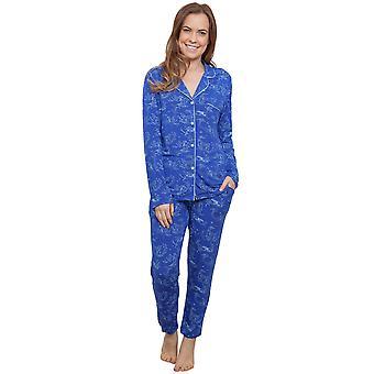 Cyberjammies 3883 kvinnors Elisa blå renar skriva pyjamas pyjamas topp