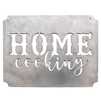 Home cooking - metal cut sign 14x11in