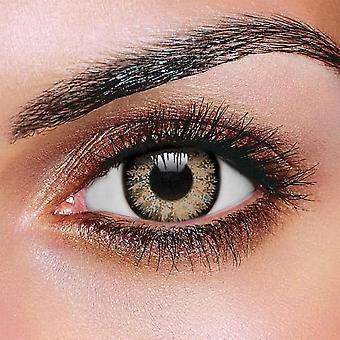 Glamour honung kontaktlinser (par)