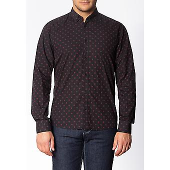 Merc WORPLE, Men's Long Sleeve Cotton Shirt with Geo Print