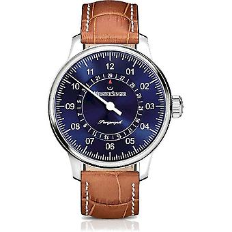 MeisterSinger Men's Watch Single-Hand Clock with Additional Function Automatic Perigraph AM1008_SG03W