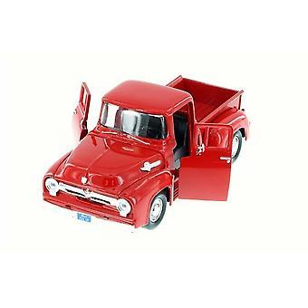 MotorMax American Classics - 1955 Ford F-100 Pickup Red   1:24