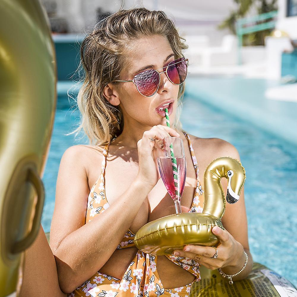 Swim Essentials Gold Swan Cup titulaire gonflable