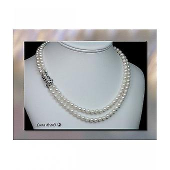 Luna-Pearls Akoya Pearl Necklace with Sapphires HKS95