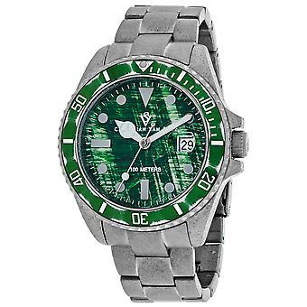 Christian Van Sant Men's Montego Vintage Green Dial Watch - CV5102