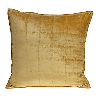 """20"""" x 7"""" x 20"""" Transitional Yellow Solid Quilted Pillow Cover With Poly Insert"""