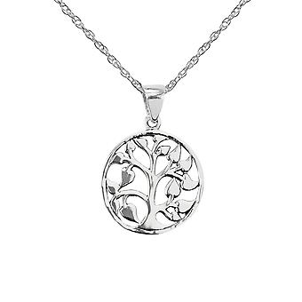 Celtic Mother Earth Tree Of Life Round Necklace Pendentif - Inclut un 16'quot; Silver Chain