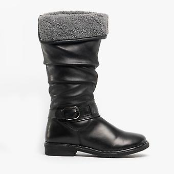 Lotus Talitha Ladies Leather Tall Boots Black