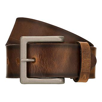 ALBERTO Vintage Belt Men's Belt Leather Belt Denim Belt Brown 8406