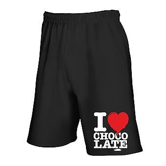 Black tracksuit shorts wes0261 i love chocolate