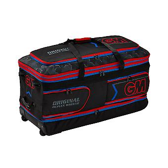 Gunn & Moore 2019 Original Duplex Wheelie Cricket Duffle Bag Black/Red/Blue