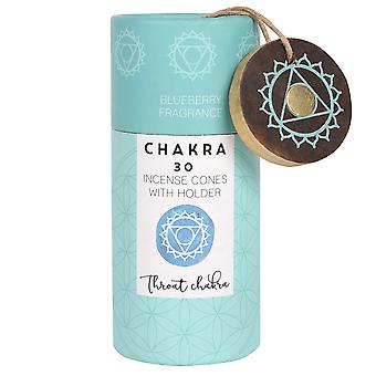 Something Different Throat Chakra Incense Cones (Pack Of 30)