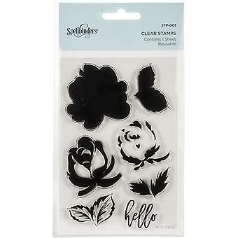 Spellbinders Layered Rose Clear Stamps