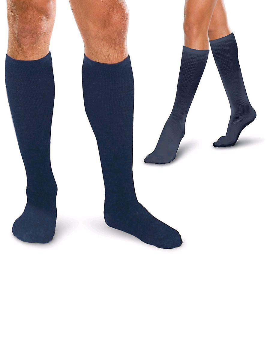 Therafirm Core Spun Short Length Support Socks [Style AC11S] Black  L