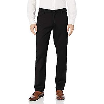 Dockers Men's Slim Fit Easy Khaki Pants, Black, Black (Stretch), Size 34W x 34L