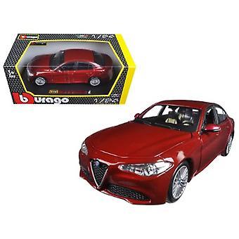 2016 Alfa Romeo Giulia Burgundy 1/24 Diecast Model Car par Bburago