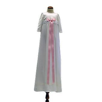Grace Of Sweden, Dopklänning Med Lång ärm, Rosa Bred Rosett