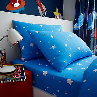 Out of Space Science Girls Kids Single Duvet Cover Children Rotary Bedding Set