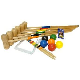 Bex Sport Croquet Six Mallet Outdoor Game