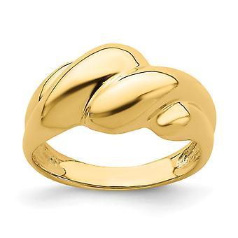 14k Gold Dome Ring High Polish Fashion Size 7 Joias Para Mulheres - 4.0 Gramas