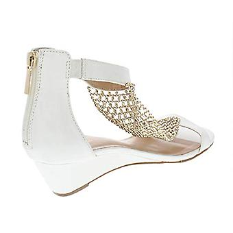 Thalia Sodi Womens Tibby Evening T-Strap Wedge Sandals White 5 Medium (B,M)