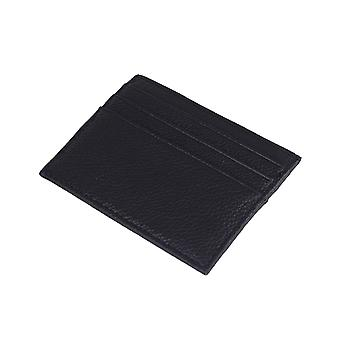 Slim card holder / ID pocket in real leather