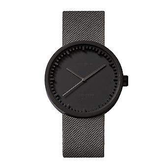 Leff Amsterdam LT71015 D38 Black Tube Grey Cordura Wristwatch