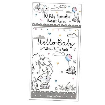 Hugs et baisers - 30 Baby Memorable Moment Cards