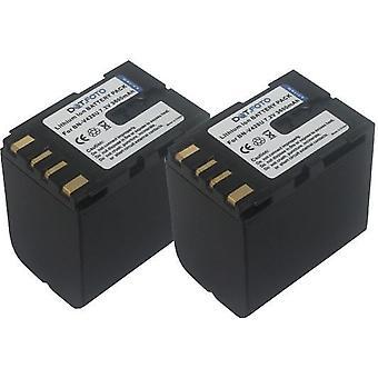 2 x Dot.Foto JVC BN-V428, BN-V428U sostituzione della batteria - 7.2 v / 3600mAh