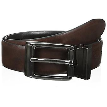 DRCkers Men's Boys' 28mm Feather Edge Reversible Boys Belt,Black/Brown,Small/22-24 Inches
