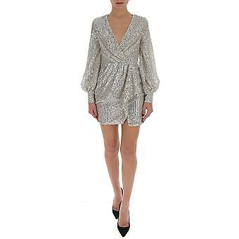 Amen Ams20452722 Kvinnor's Silver Cotton Dress