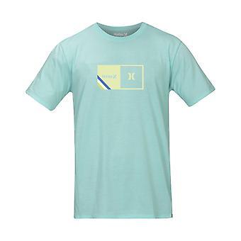 Hurley Men's T-Shirt - Halfer Stripe Aqua