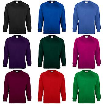 Maddins Mens Coloursure Plain Crew Neck Sweatshirt