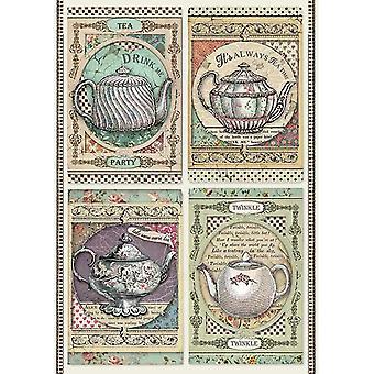 Stamperia Reis Papier Blatt A4-Tee-Zeit