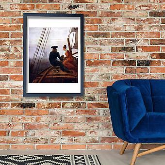 Caspar David Friedrich - On the Boat Poster Print Giclee