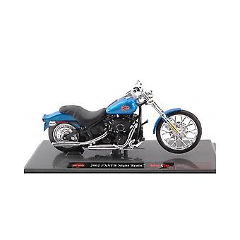 Maisto Harley Davidson 2002 FXSTB Night Train BLUE 1:18