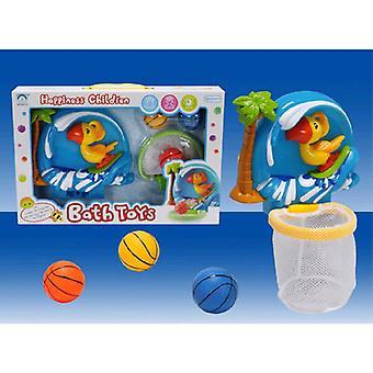 Brinquedos de água, brinquedos de banho Papagaio com rede e copos de sucção a partir de 12 meses