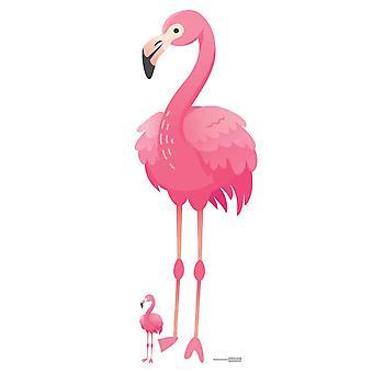 Pink Flamingo Lifesize Cardboard Cutout / Standee / Standup
