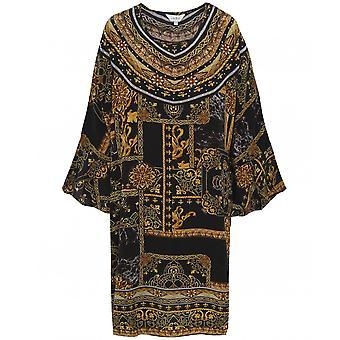 Inoa Verona Short Silk Frill Sleeve Kaftan