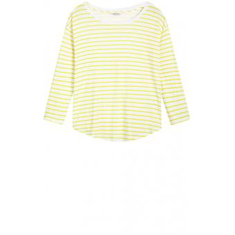Sandwich Clothing Yellow & White Striped Top
