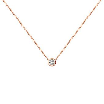 Baby Necklace Diamond Solitaire 0.05 quilates e 18K Ouro