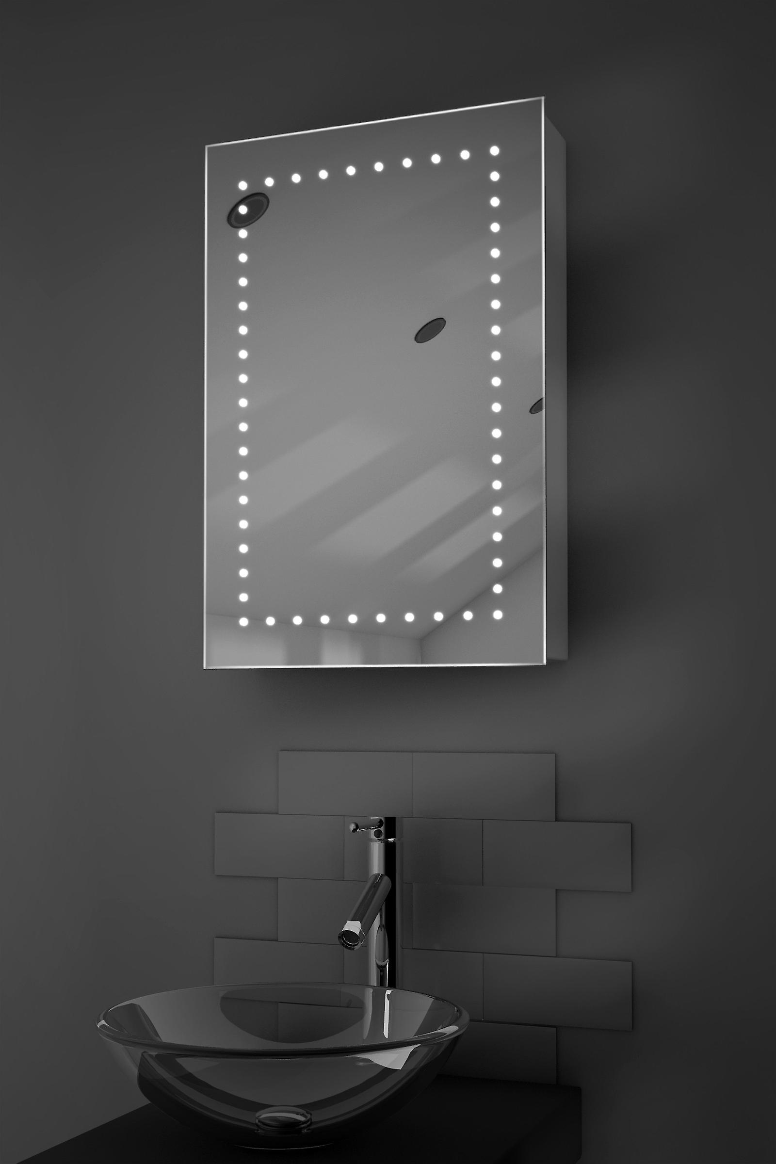 Elora LED salle de bains Cabinet avec Dévésiculeur Pad, capteur et Shaver k347