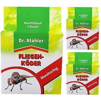 Sparset: 3 x DR. STÄHLER Fly-Bader refill pack, 3 bags