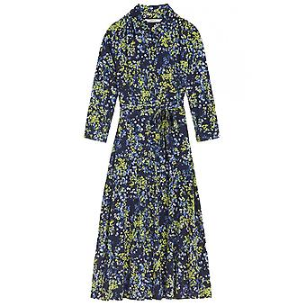 Sandwich Clothing Lime & Navy Floral Shirt Dress