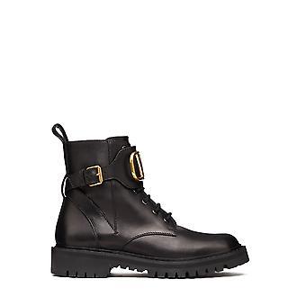 Valentino Garavani Uw2s0q03bek0no Men's Black Leather Enkellaarsjes