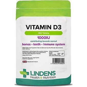 Lindens-vitamiini D3 1000iu Tabletit 360 (5620)