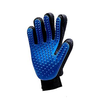 Blue Right Hand Silicone Pet Grooming Glove