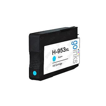 1 Cartuccia di inchiostro compatibile con la stampante Go Cyan per sostituire HP 953C (XL Capacity) Compatibile / non OEM per stampanti HP Officejet